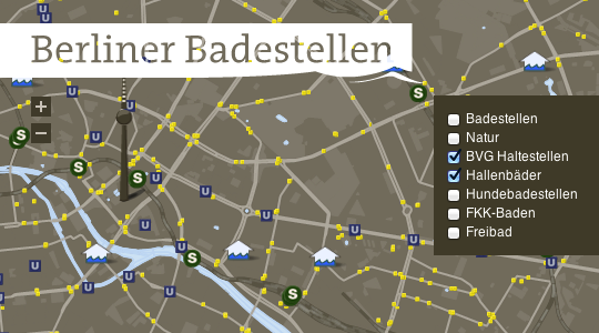 "Screenshot der App ""Berliner Badestellen"""