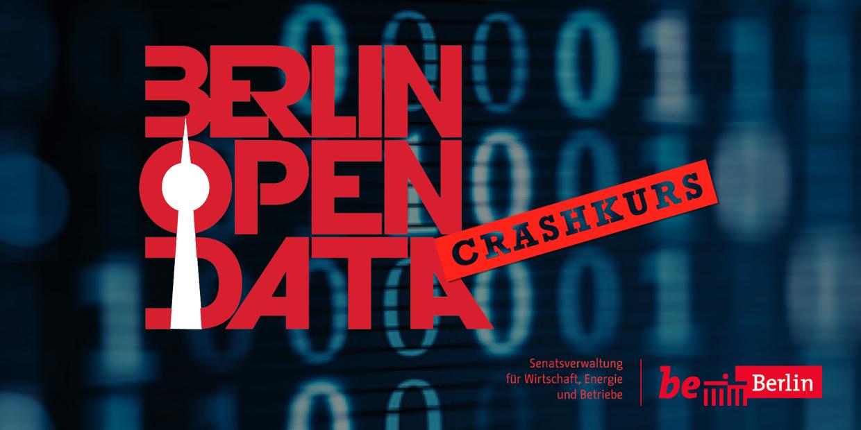 """Ankündigungsbild für die Veranstaltung """"Crashkurs Open Data"""""""