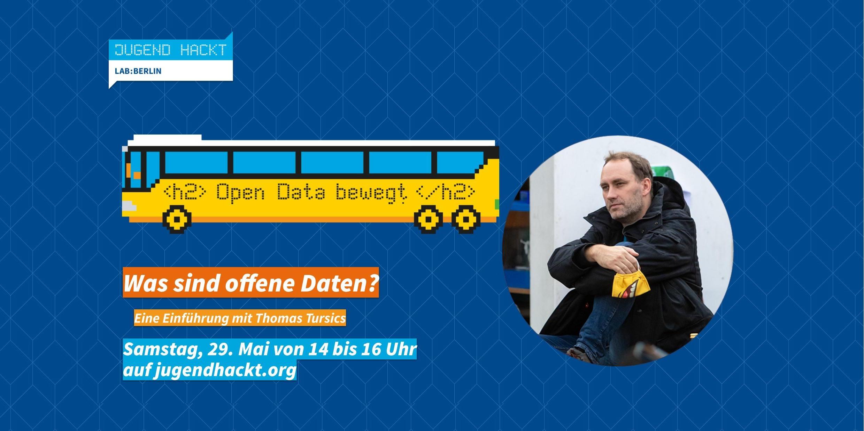 """Ankündigung des Workshops """"Was sind offene Daten?"""" im Berliner """"Jugend hackt""""-Lab"""