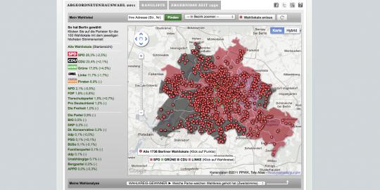 Berlinwahlkarte