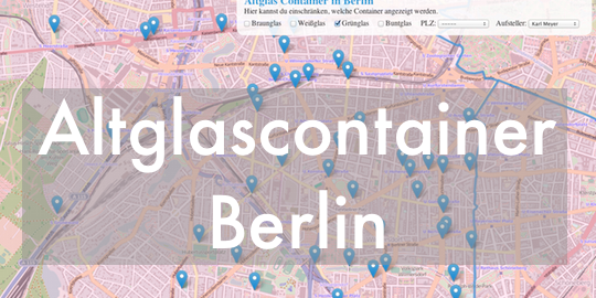 Altglascontainer Berlin