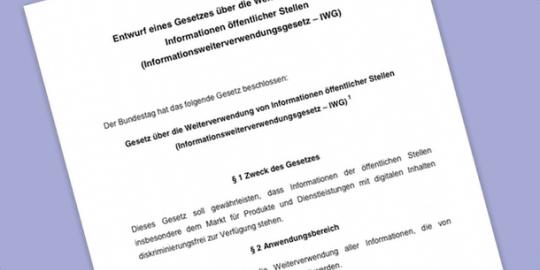 Open Data Gesetzentwurf des BMWi