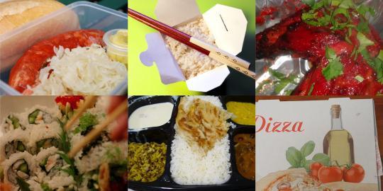 Fotos von Essen in Takeaway-Containern