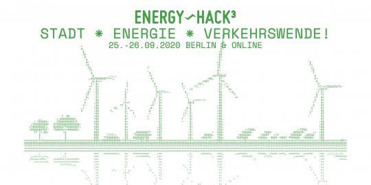 Screenshot der Webseite des EnergyHack^3 Hackathons