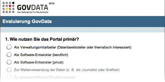 govdata.de Online-Evaluation