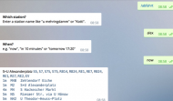 Screenshot des VBB Telegram Bot