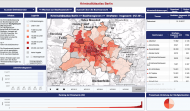 Screenshot der Kriminalitätsatlas App der Berliner Polizei