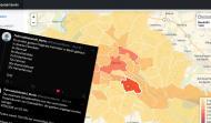 """Screenshot der Webapp """"Fahrraddiebstahl Berlin"""", die die Anzahl der Fahrraddiebstähle in Berlin als Heat-Map zeigt."""
