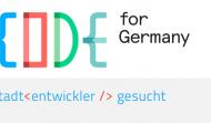 Code for Germany - Stadtentwickler gesucht