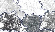 Verschiedene Berlinkarten, die die geografischen Gliederungen der Stadt zeigen